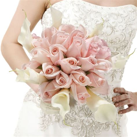 Wedding Bouquet Light Pink by Beautiful Bridal Bouquet With Light Pink Roses And White