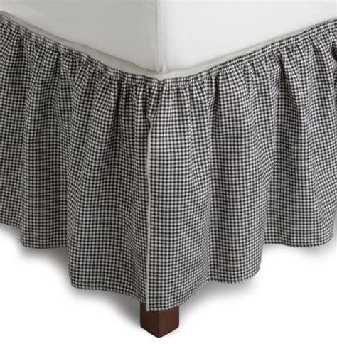 gingham bed skirt logan gingham check print 14 inch dust ruffle bed skirt