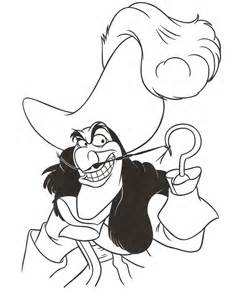 captain hook coloring page coloring home