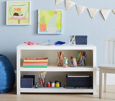 toddler crafting bookcase pottery barn