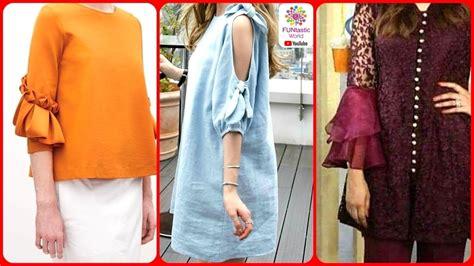 design baju cutting stylish fancy sleeves designs for girls latest top baju