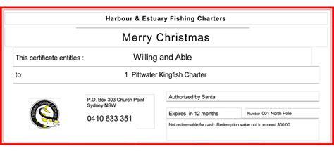 buy gift certificate buy gift certificate harbour estuary fishing charters