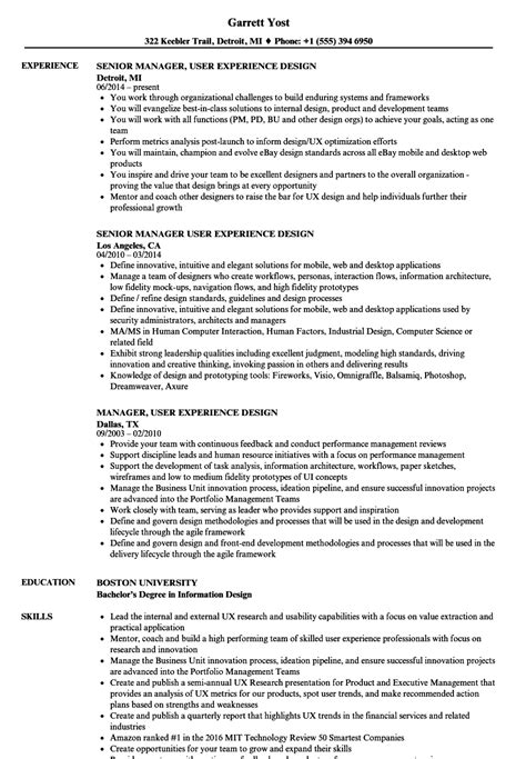 user experience researcher sle resume real estate