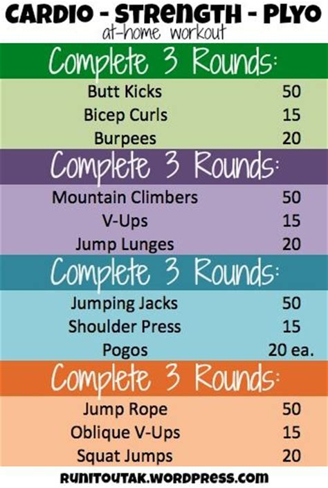 recap and at home workout circuit workouts