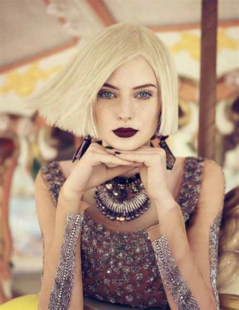 blonde bob red lips bob hairstyles you need to try this spring the hairstyle