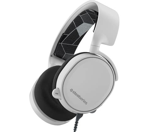Headset Steelseries Arctis 3 Gaming Headset 7 1 Surround Black White steelseries arctis 3 7 1 gaming headset white deals pc world