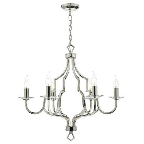 Multi Arm Ceiling Light Dar Lighting Nerva 6 Light Multi Arm Ceiling Pendant In Polished Nickel Finish With