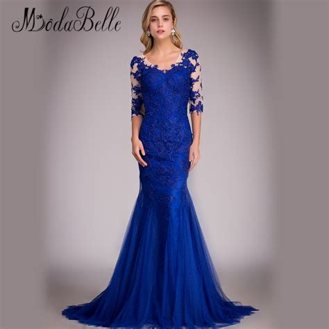 Blue Royal Lace Dress 43564 royal blue lace evening dress real picture 2016 mermaid