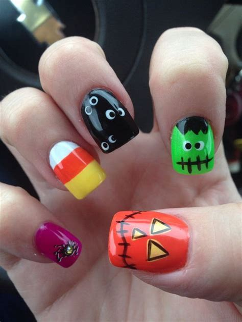 imagenes de uñas acrilicas para halloween 40 cute and spooky halloween nail art designs listing more