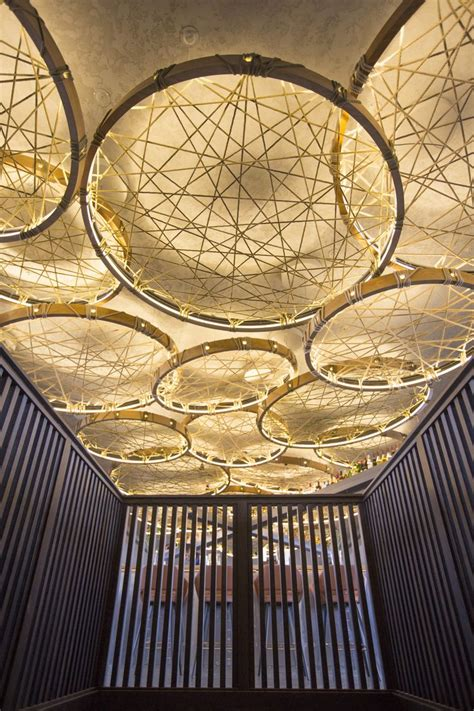 woven circular suspended pendant lighting  vertical