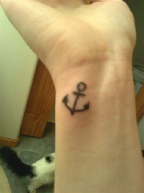 small anchor tattoos on wrist designs for