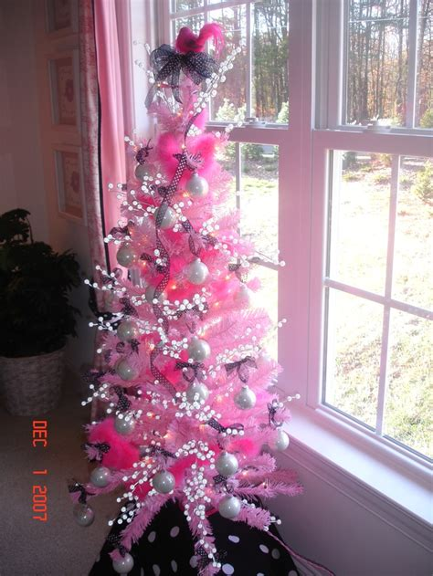 pink and silver christmas tree christmas trees pinterest