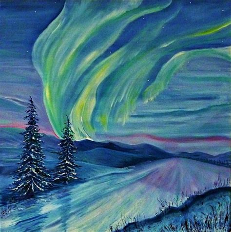northern lights painting for sale heatherbell barlow northern lights artists