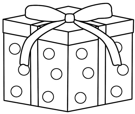 christmas gifts coloring pages printable presents for
