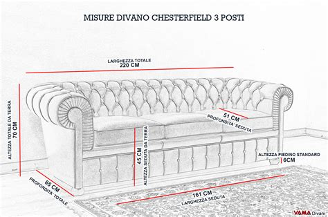 larghezza divano divano chesterfield 3 posti prezzo e dimensioni