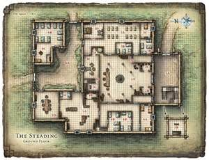 dungeon floor plans pdf steading tavern inn d d maps pinterest floor plans floors and the o jays