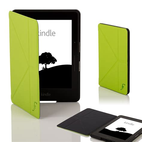 Origami Kindle Cover - leather smart origami cover for kindle voyage