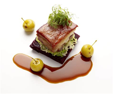 Masterchef Kitchen Design by Inconnu Chef Pork Belly Food Plating Amp Signature