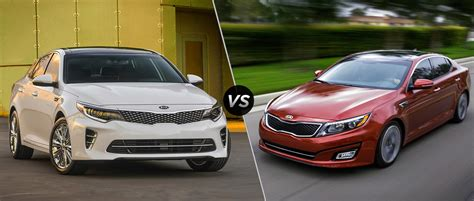 The Kia Optima 2015 Kia Optima Vs 2016 Kia Optima