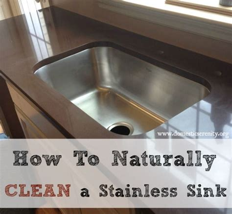 how to naturally clean and deodorize a stainless steel sink