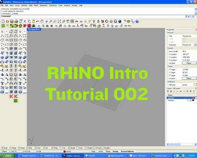 tutorial video rhino paramod net rhino tutorial 002