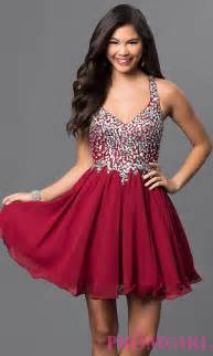 short a line beaded bodice prom dress promgirl