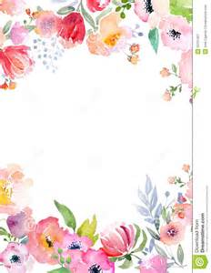 Watercolor Templates by Watercolor Roses Card Template Stock Illustration Image