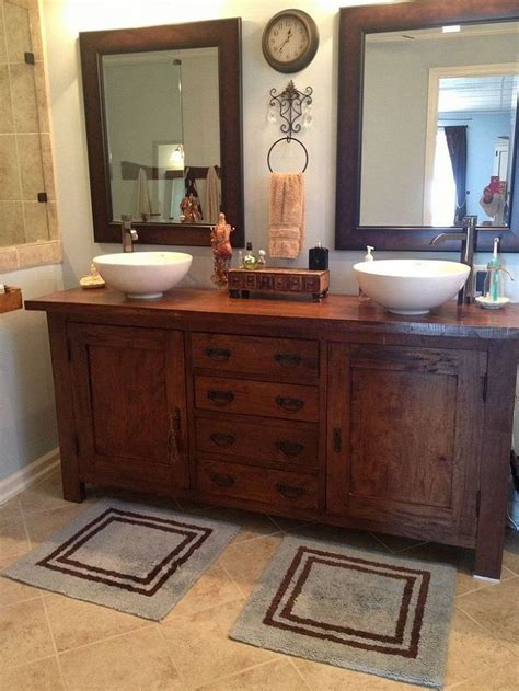 Master Bathroom Vanity From Sideboard Buffet To Master Bathroom Vanity Beautiful Sinks And Towels