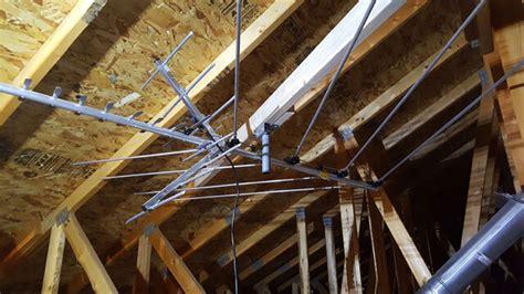 cut  cord install  hdtv antenna   attic