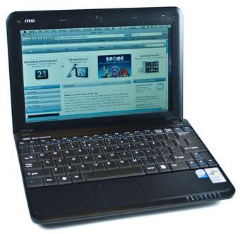 Msi Wind Mini Notebook by Run Os X On The Msi Wind Mini Laptop