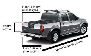 Nissan Frontier Truck Bed Dimensions Dimensions For D40 And King Cab Nissan Navara Net
