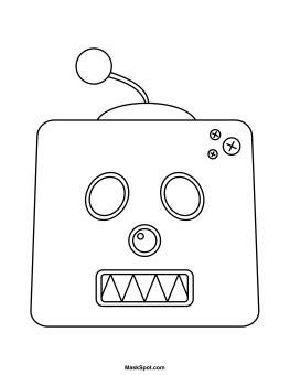 printable robot eyes printable robot mask
