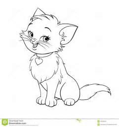 vector cartoon fun cute kitten art stock vector image 42552524