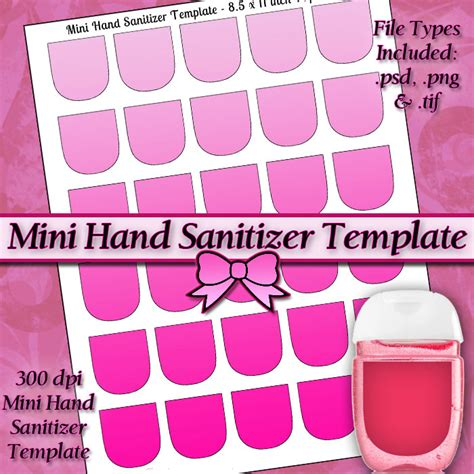Mini Hand Sanitizer Label Template