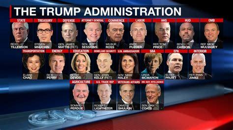 cabinet members under trump trump still has to fill nearly 2 000 vacancies fox40