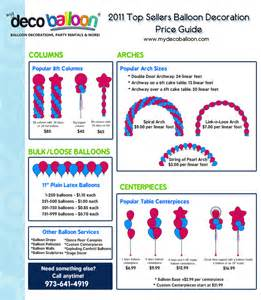 balloon decoration prices favors ideas