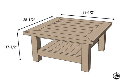 Coffee Table Square Pine Wood square coffee table w planked top free diy plans
