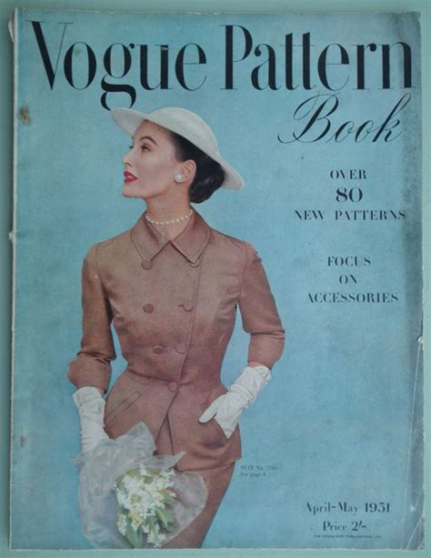 sewing pattern catalogs vogue pattern book 1951 vintage 50s sewing patterns