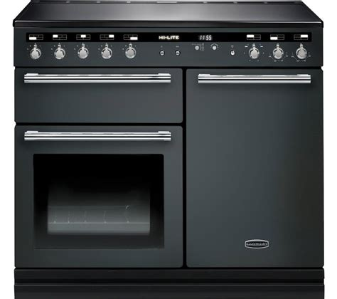 kitchen range with induction hob buy rangemaster hi lite 100 electric induction range cooker slate chrome free delivery