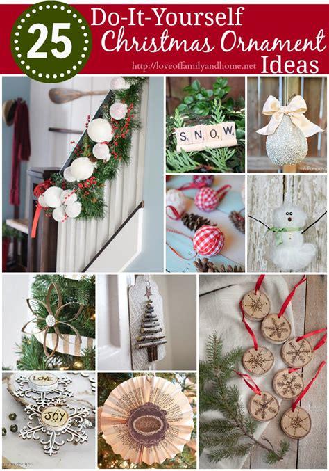 diy christmas ornament ideas love  family home