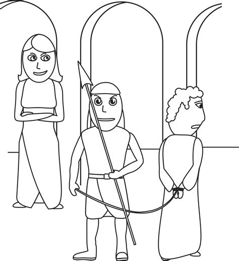 coloring page of joseph and potiphar my children s curriculum joseph and potiphar