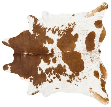 Brown Cow Rug Pergamino Brown And White Cowhide Rug Southwestern