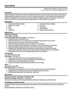 student radiology technician resume