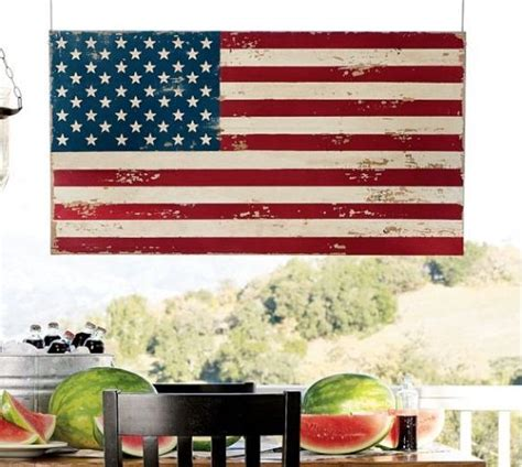 American Flag Wall Decor by Painted American Flag Wall Decor