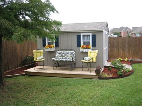 Shed With Deck by Improve The Looks Of A Storage Shed