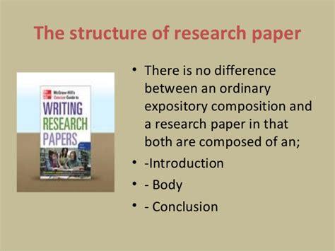 structuring a research paper the structure of research paper