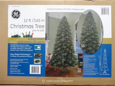 9 ft costco christmas tree ge 12 pre lit led tree
