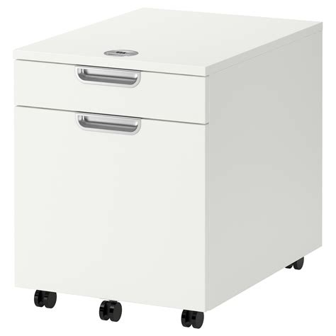 lade da scrivania galant drawer unit with drop file storage white 45x55 cm