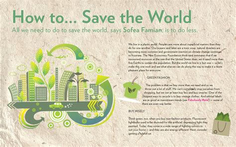 How To Save The World save the world ecocology