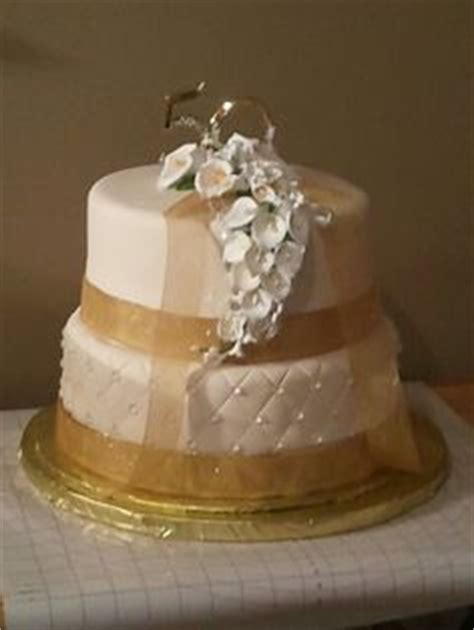 Gold Box Butter Layer Cake 1 50 th anniversary cake all buttercream with piping and